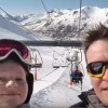 family skiing in Asturias
